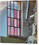 Cracked Pink Wood Print