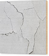 Cracked Stucco  Wood Print