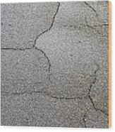 Cracked Tarmac Wood Print