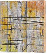 Cracked Wood Background Wood Print by Carlos Caetano