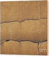 Cracked Yellow Wall Wood Print
