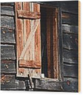 Cracker House Window Wood Print