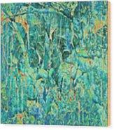Cracks In Blue Wood Print