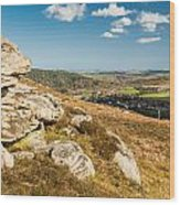 Crags Over Rothbury Wood Print