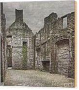 Craigmillar Castle Ruin Edinburgh Wood Print