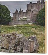 Craigmillar Castle Ruin Wood Print