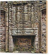Craigsmillar Castle Fireplace Wood Print
