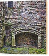 Craigsmillar Castle Kitchen Fireplace Wood Print