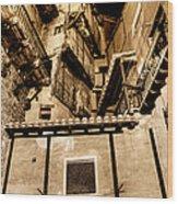 Crammed Floors In Albarracin Wood Print