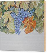 Cran-grapes Wood Print
