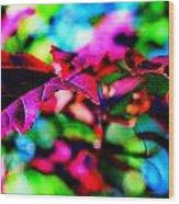 Cranberry Leaf Wood Print