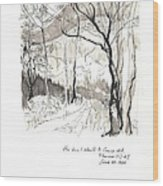 Crane Mtn Trailhead Wood Print