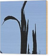 Crane Wood Wood Print
