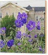 Cranesbill Blue Geranium Wood Print