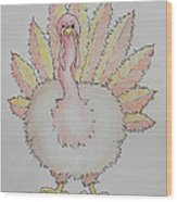 Cranky Turkey Wood Print