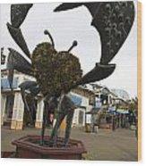 Crap Sculpture Fisherman's Wharf San Francisco Wood Print