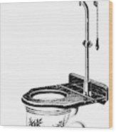 Crapper Toilet, 1890s Wood Print