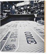 Craps Table In Las Vegas Wood Print
