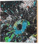 Crash Of The Eye Galaxy Wood Print