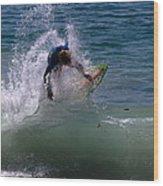 Wave Crashing Wood Print