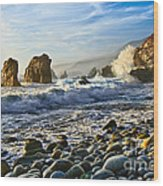 Crash - Waves From Soberanes Point In Garrapata State Park In California. Wood Print