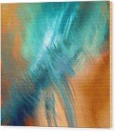 Crashing At Sea Abstract Painting 4 Wood Print