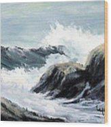 Crashing Sea Wood Print