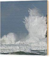 Crashing Surf Wood Print