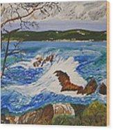 Crashing Wave Wood Print by Eric Johansen