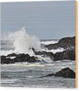 Crashing Wave Wood Print by Scott Gould