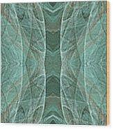 Crashing Waves Of Green 1 - Panorama - Abstract - Fractal Art Wood Print