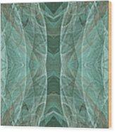 Crashing Waves Of Green 4 - Square - Abstract - Fractal Art Wood Print