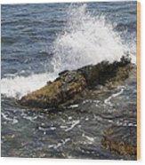 Crashing Waves - Rhode Island Wood Print