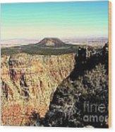 Crater At Grand Canyon Wood Print
