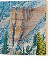 Crater Lake Pumice Castle Wood Print