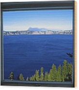 Crater Lake Through Our Window Wood Print