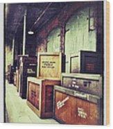 Crates And Crates Wood Print