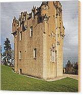 Crathes Castle Wood Print