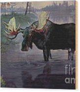 Craven Moose Wood Print