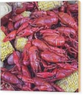 Crawfish Time In Louisiana Wood Print by Katie Spicuzza