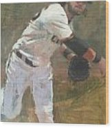 Crawford Throw to First Wood Print