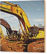 Crawler Excavator - Komatsu - Digger - Machinery Wood Print