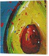Crazy Avocado 4 - Modern Art Wood Print