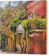 Crazy Whimsy Wacky New Orleans Wood Print by Christine Till