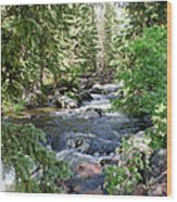 Crazy Woman Creek Wood Print