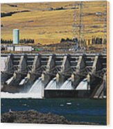 The Dalles Dam Wood Print