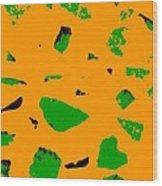 Creamsicle Orange Abstract Wood Print
