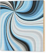Creamy Blue Graphic Wood Print