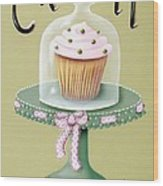 Creamy Cupcake Wood Print