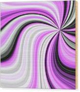 Creamy Pink Graphic Wood Print